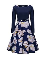 Women-Vintage-Floral-Printed-Skater-Dress