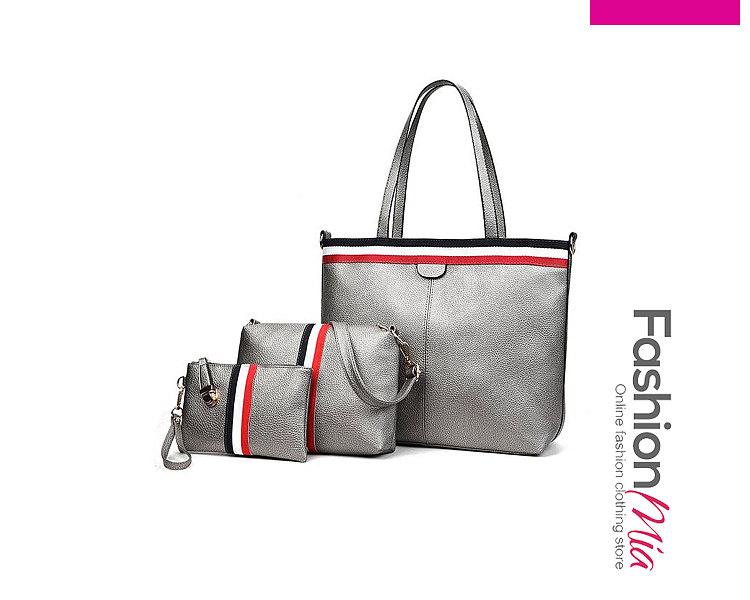 Plain Three Pieces Chic Women Shoulder Bags