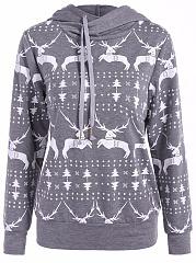 Christmas-Reindeer-Printed-Hoodie