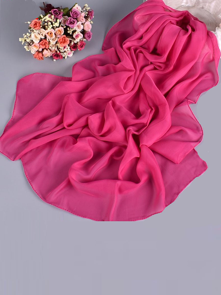 Pure Color Lady Chiffon Long Scarf