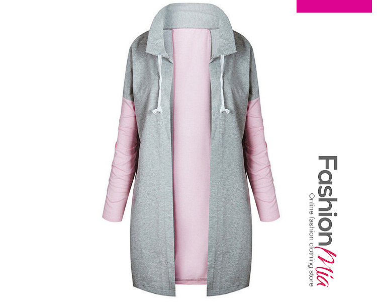 Color Block Long Hoodie 592A6DB3A120