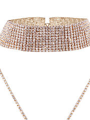Collier tour de cou strass luxe