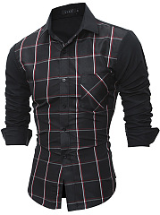 Trendy-Plaid-Patch-Pocket-Men-Shirts