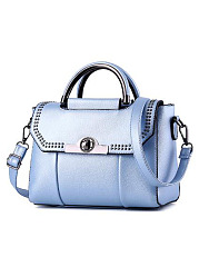 New Candy Color Korea Stylish All-Match Rivet Hand Bag