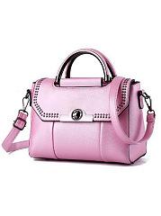 New-Candy-Color-Korea-Stylish-All-Match-Rivet-Hand-Bag