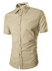 Basic Office Plain Men Shirts