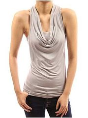 Backles Stylish Cotton Plain Sleeveless-T-Shirt
