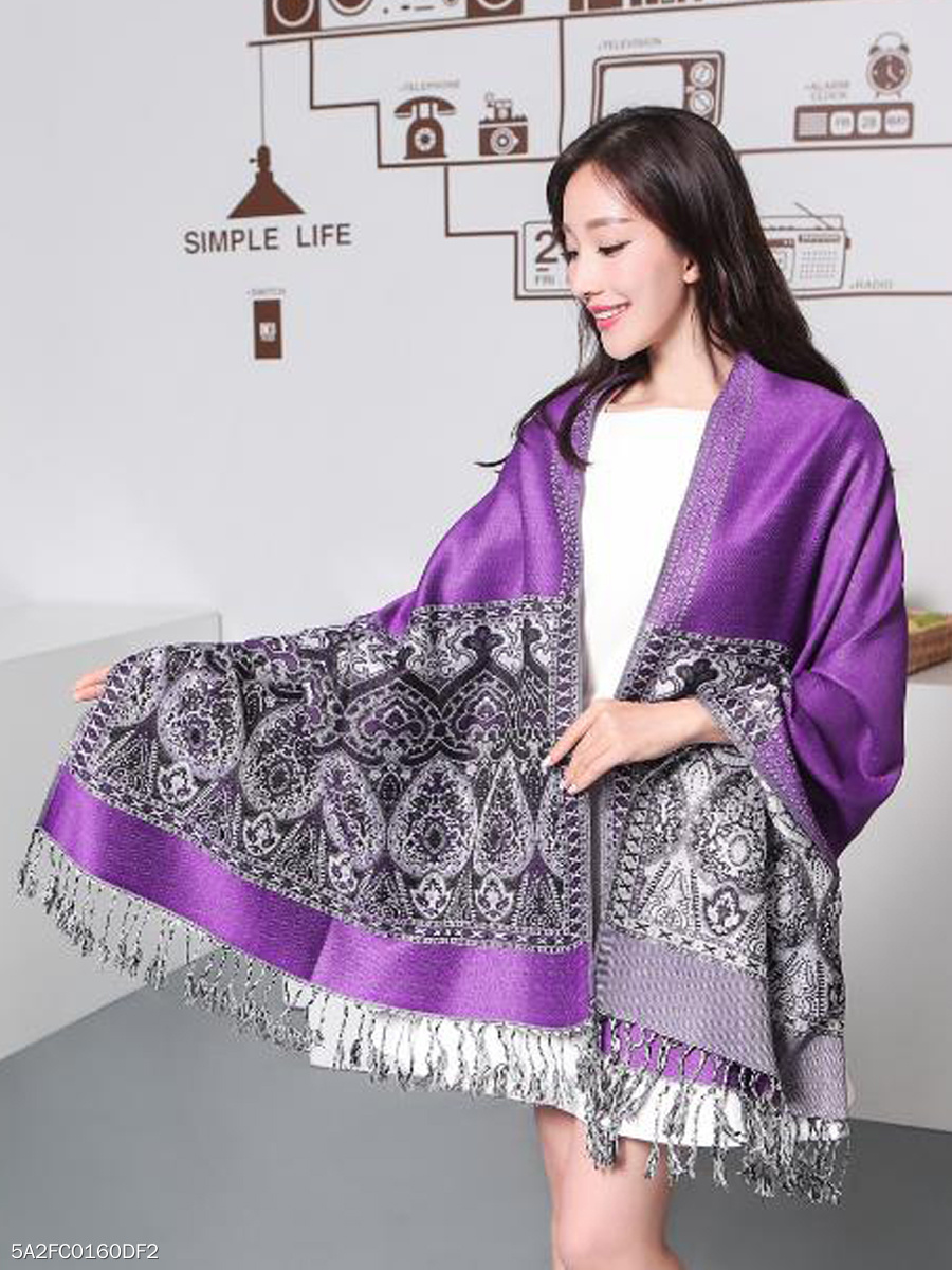 Women Cashmere Scarf Patchwork Shawls Jacquard Scarves Thickening Warm Long Watkins Nap Scarf