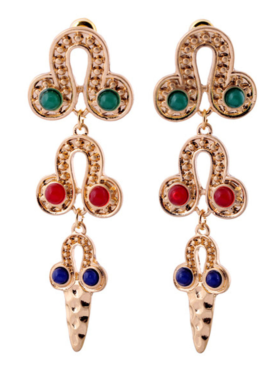 Exotic Designed Alloy Drop Earring