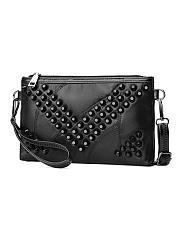 Black-Rivet-Hand-Bag-Crossbody-Bag