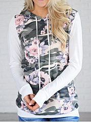 Camouflage-Floral-Kangaroo-Pocket-Hoodie