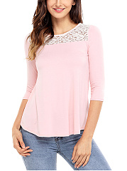 Cowl Back Hollow Out Long Sleeve T-Shirt