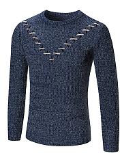 Round-Neck-Contrast-Stitching-Mene28099S-Sweater