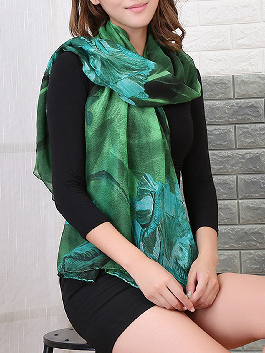 Yarn Gauze Printed Scarves