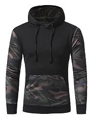 Camouflage-Kangaroo-Pocket-Color-Block-Men-Hoodie