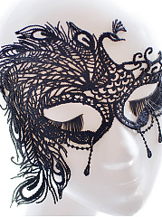 Peacock Shape Lace Mask