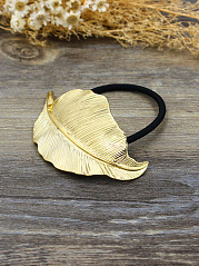 Gold Leaf Shape Elastic Rubber Band