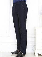 Basic-Plain-Mens-Office-Straight-Pants