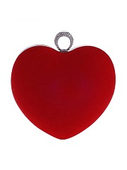 Red-Heart-Chain-Evening-Clutch-Bag