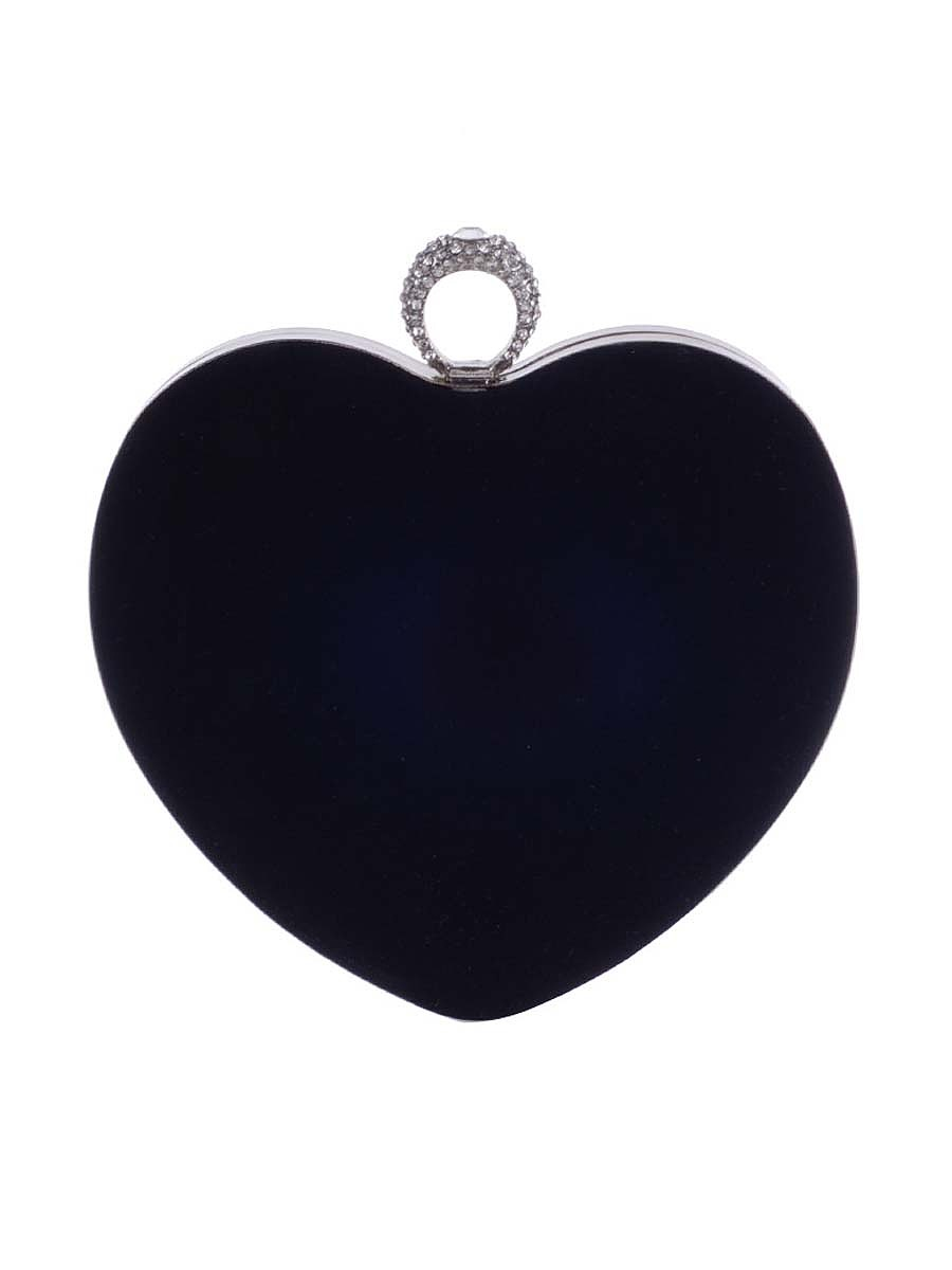 Red Heart Chain Evening Clutch Bag