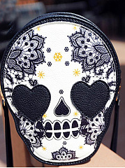 Mistery Skull Print Little Coins Bag Crossbody Bag