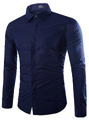 Basic-Plain-Turn-Down-Collar-Long-Sleeve-Men-Shirts