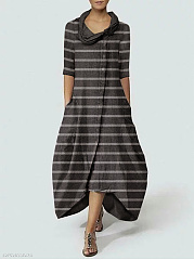 Cowl Neck  Printed Maxi Dress