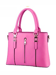 Candy Color Zips Squared Big Capacity Shoulder Bag