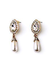 Drop Beads Pendant Imitated Crystal Earrings