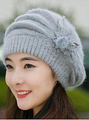Elegance Fashion Faux Fur Tassel Decoration Polyamide Hats For Women