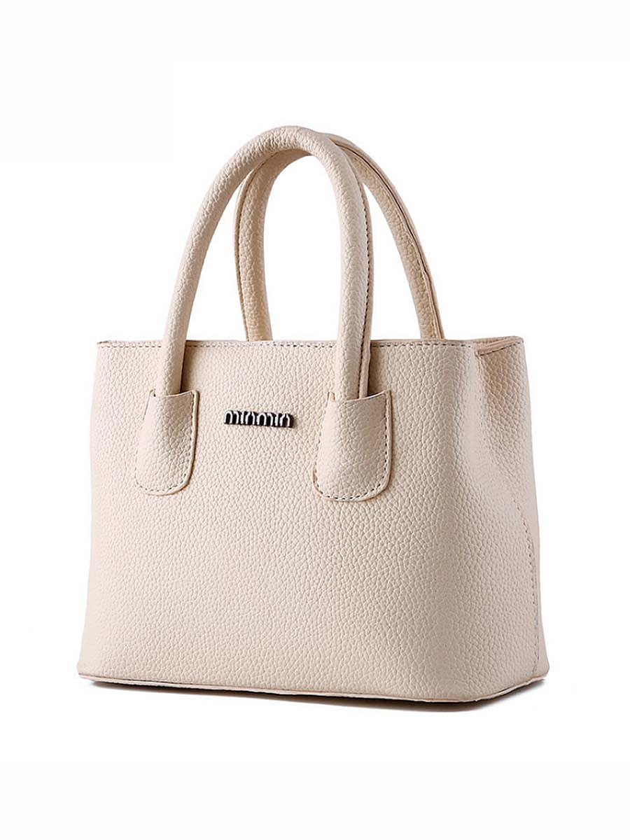 Plain Pu Basic Handbag