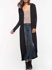 Asymmetric-Hem-Plain-Cardigan