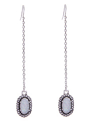 Rhinestone Imitation Stone Chain Drop Earrings