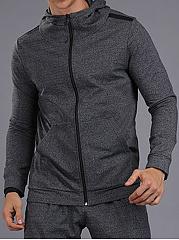 Men-Sport-Hooded-Patch-Pocket-Plain-Coat