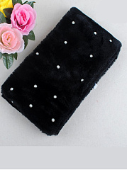 New Fashion Pearls Bobble Faux Fur Collar Wrap Scarf