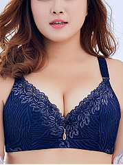 Plus Size Widen Sexy Lace-Trim  Adjustable Busty Bando