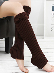 Bowknot Knitting Boots Long Stocking Leg Warmers