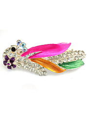 Colorful Peacock Shape Hair Clip