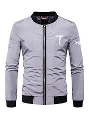 Band-Collar-Pocket-Letters-Printed-Men-Jacket