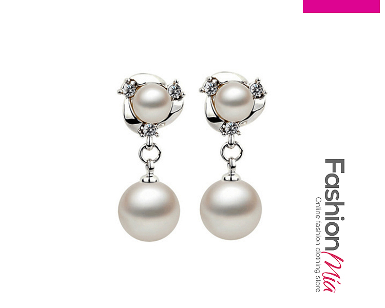 Image of Alloy Plated Beads Earrings