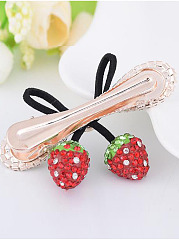 Creative Strawberry Fruit Rhinestone Hair Clip