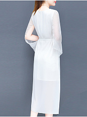 Round Neck  Plain Evening Dress