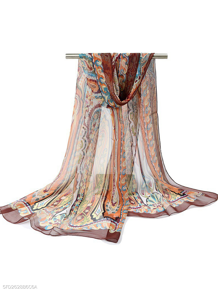 Boho Stylish Chiffon Tribal Long Scarf