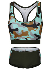Scoop-Neck-Racerback-Camouflage-Swimwear