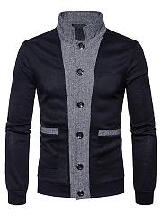 Band-Collar-Patch-Pocket-Color-Block-Mene28099S-Cardigan