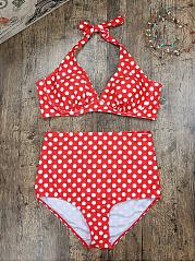 Halter-Polka-Dot-Bikini