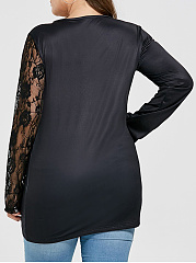 Skull Printed See-Through Plus Size T-Shirt