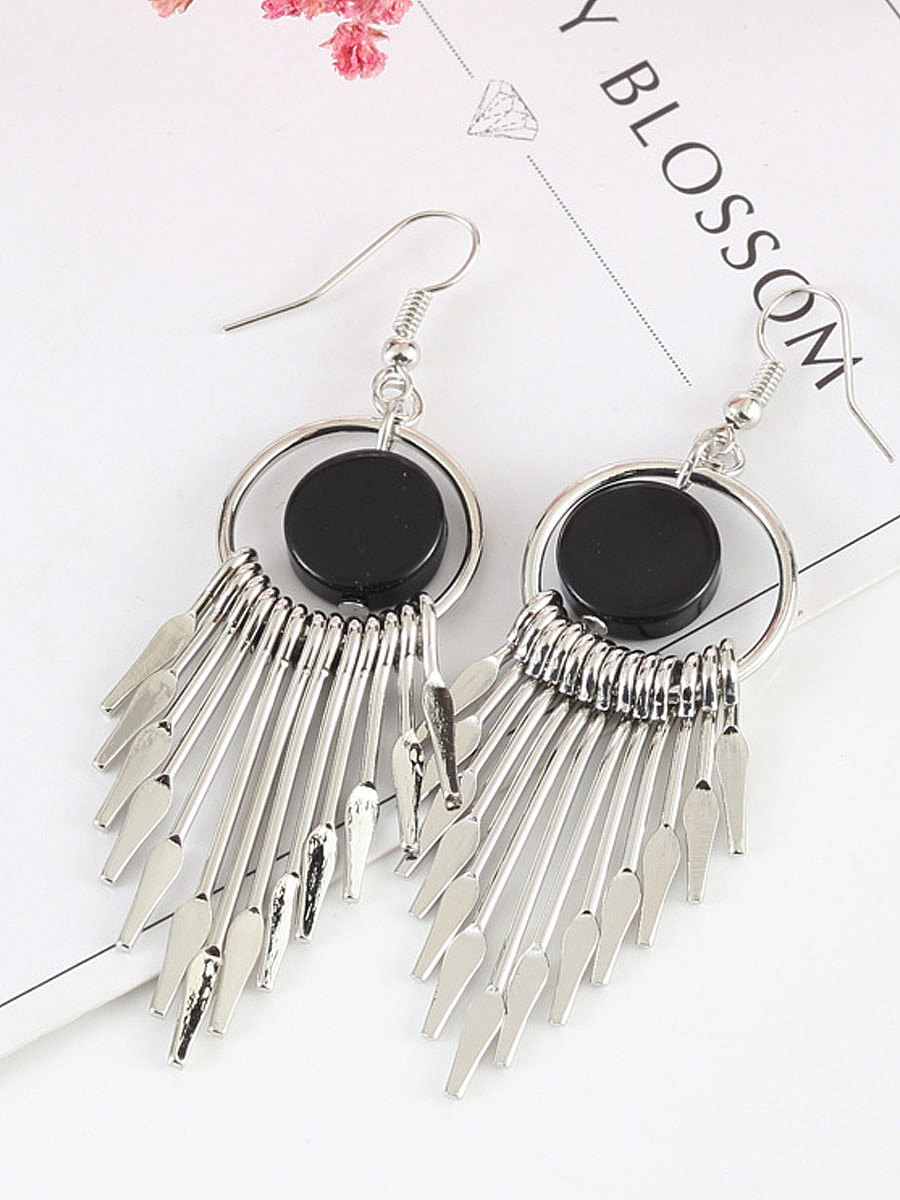 Chic Mental  Tassel Earrings