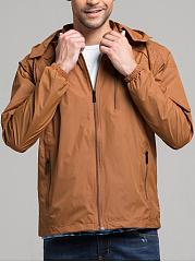 Hooded-Zips-Pocket-Plain-Men-Coat