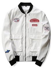Men-Band-Collar-Flap-Pocket-Decorative-Patch-Jacket
